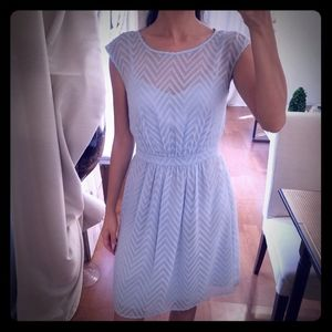 J. Crew Cotton Candy Romantic Blue Sheer Dress